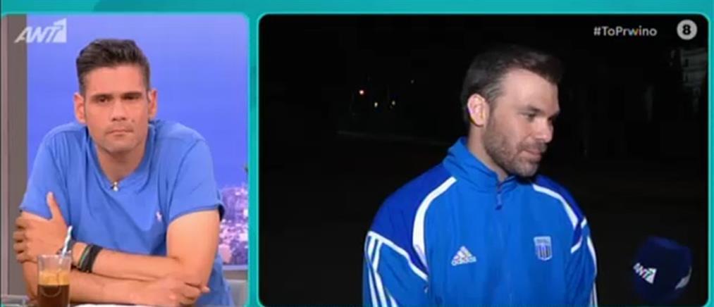 """Ο Γιώργος Σαμπάνης στο """"Πρωινό"""" για την """"Άγρια Θάλασσα"""" και τον στίβο (βίντεο)"""