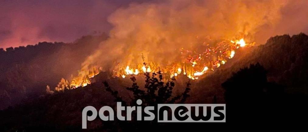 Φωτιά στην Ηλεία: σε πλήρη εξέλιξη τα πύρινα μέτωπα (εικόνες)