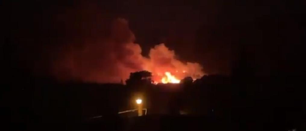 Φωτιά στη Νέα Μάκρη (εικόνες)