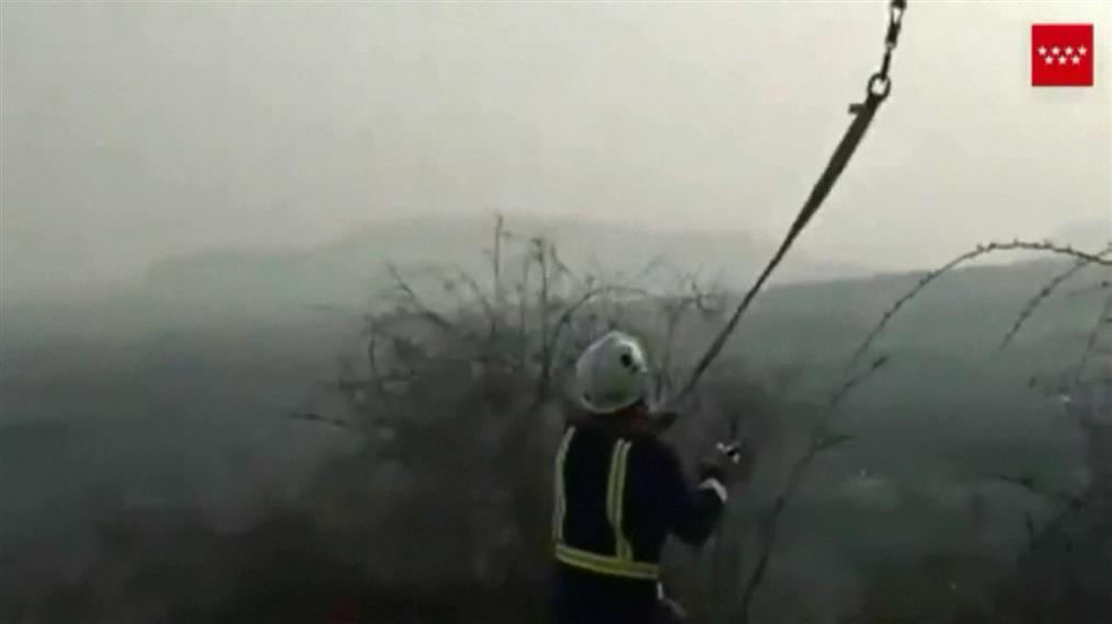 Γαϊδούρι διασώθηκε από ελικόπτερο