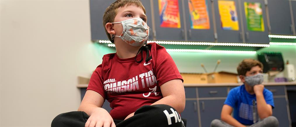 Κορονοϊός - ΗΠΑ: συνεχίζεται το μέτρο της μάσκας στα σχολεία για τους μαθητές