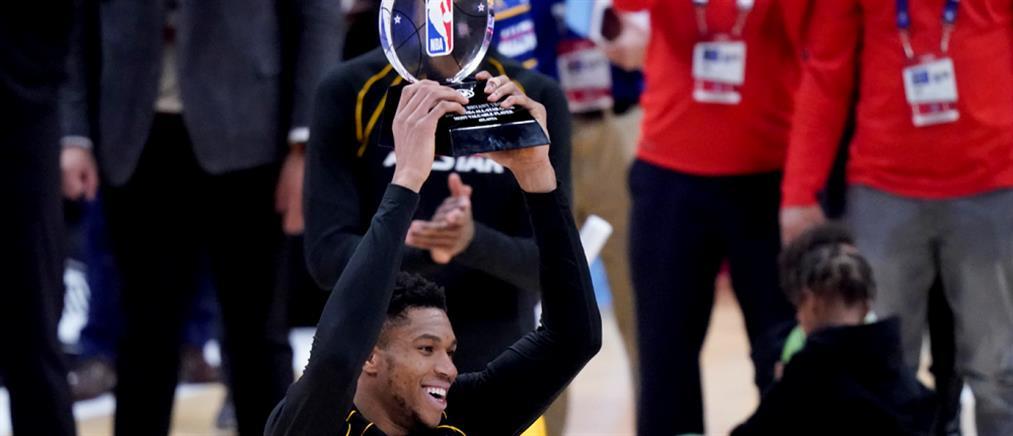 NBA - All Star Game: Ο Γιάννης Αντετοκούνμπο πρώτος Έλληνας MVP!