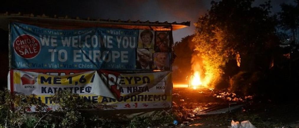 Εκτεταμένα επεισόδια στον καταυλισμό της ΒΙΑΛ στη Χίο
