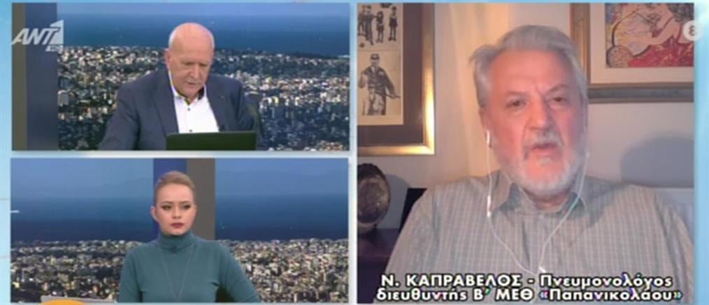 """Καπραβέλος στον ΑΝΤ1: """"Σύμμαχος"""" του κορονοϊού το άνοιγμα της αγοράς (βίντεο)"""