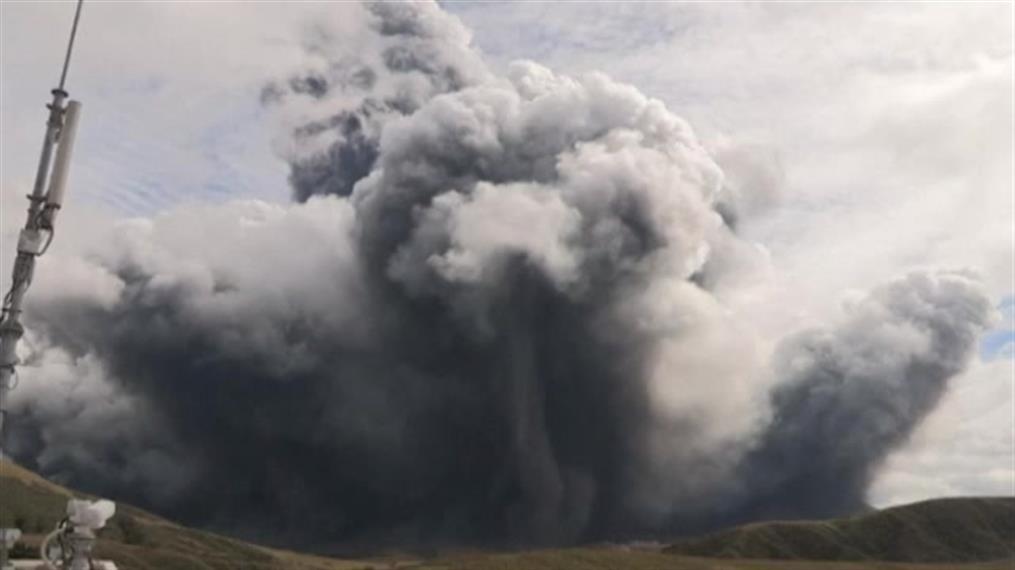 Ιαπωνία: Έκρηξη ηφαιστείου στο Όρος Άσο