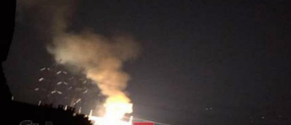 Έκρηξη σε υποσταθμό της ΔΕΗ στο Κρυονέρι (εικόνες)
