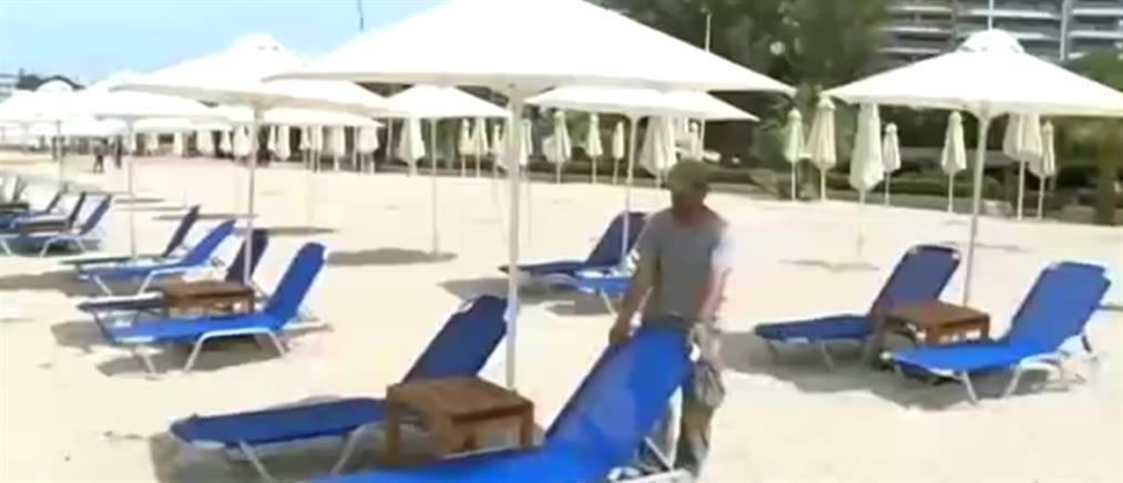 """Κορονοϊός: """"Crash test"""" το άνοιγμα των οργανωμένων πλαζ (βίντεο)"""