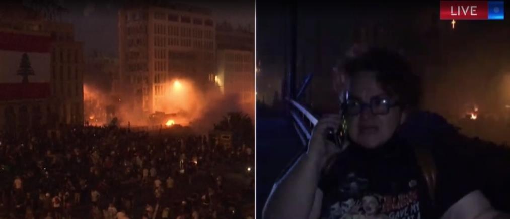 Βηρυτός - Λαμπρινή Θωμά στον ΑΝΤ1: Οι διαδηλωτές έστησαν κρεμάλες (βίντεο)