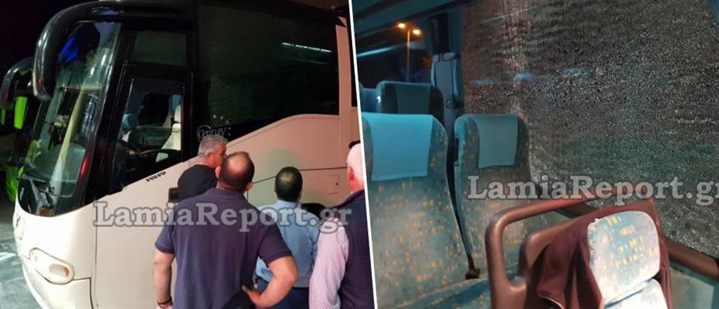 Έσπειραν τον τρόμο πετώντας πέτρες σε εν κινήσει λεωφορείο του ΚΤΕΛ