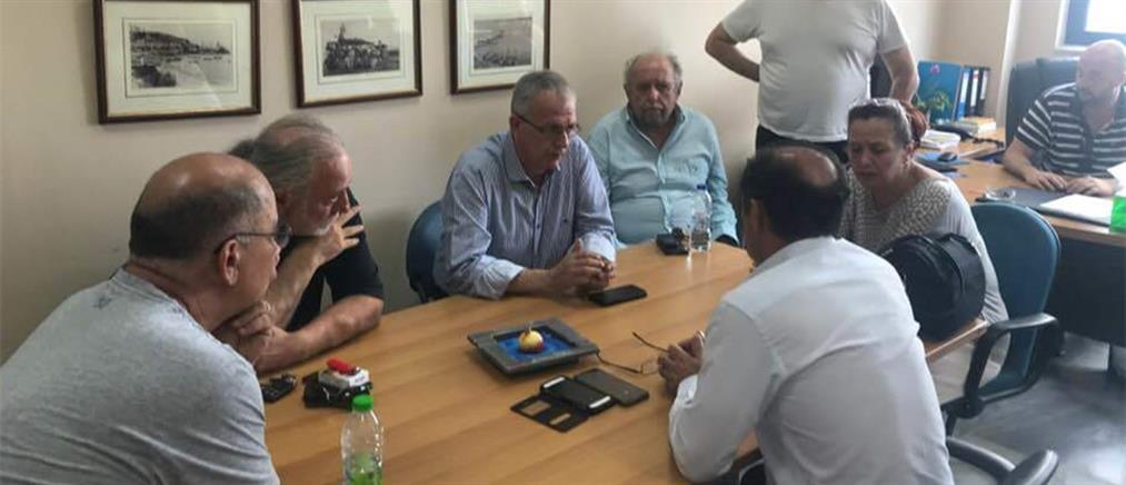 Συνάντηση κλιμακίου του ΣΥΡΙΖΑ με τους δημάρχους Ραφήνας-Πικερμίου και Μαραθώνα