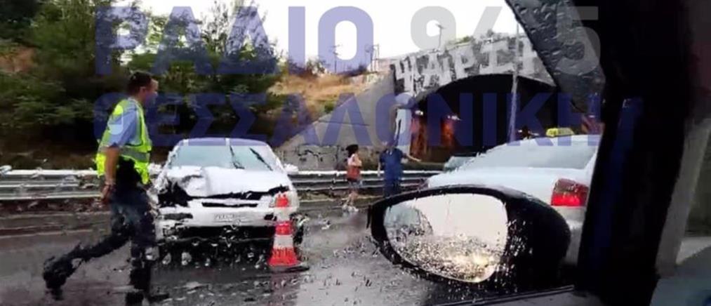 Θεσσαλονίκη: Καραμπόλες με πολλά αυτοκίνητα (βίντεο)