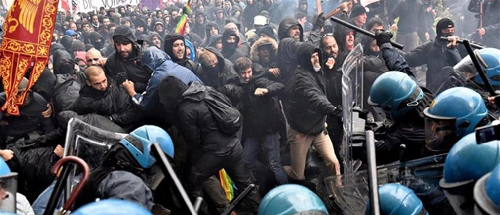 Φλωρεντία: Επεισόδια σε διαδήλωση κατά του Ρέντσι