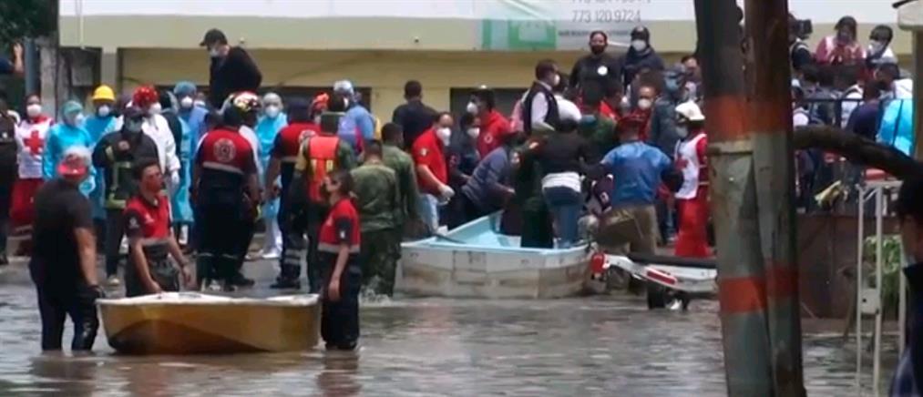 Πλημμύρες Μεξικό: ασθενείς με covid-19 πέθαναν στο νοσοκομείο (βίντεο)