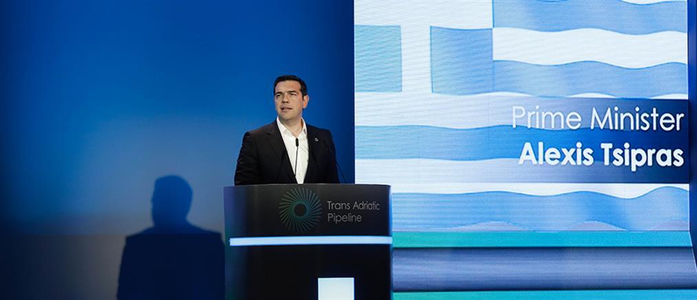 Τσίπρας: Τα εγκαίνια του TAP σηματοδοτούν τη νέα εποχή για την Ελλάδα