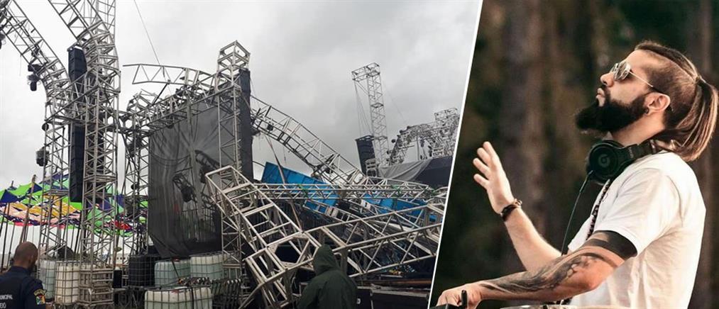 Κατέρρευσε η σκηνή και σκότωσε τον DJ! (βίντεο)