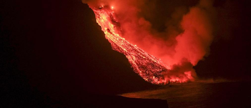 Κανάρια: η λάβα του ηφαιστείου έφθασε στον ωκεανό (εικόνες)