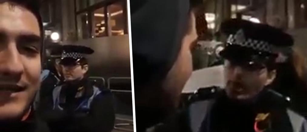 Έλληνας βρίζει αστυνομικό στο Λονδίνο κι εκείνος του απαντά στα ελληνικά! (βίντεο)