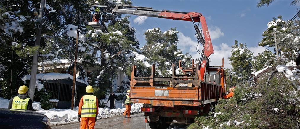ΔΕΔΔΗΕ: Συνεχίζονται οι εργασίες για την αποκατάσταση της ηλεκτροδότησης