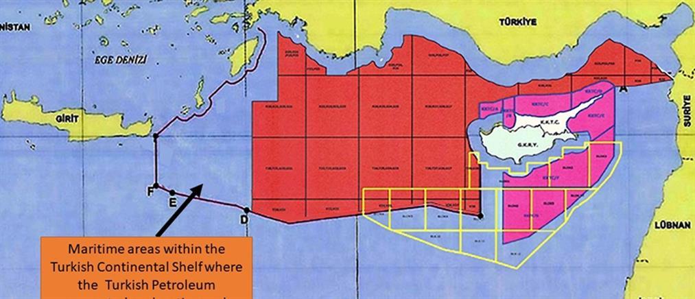 """Τουρκία: νέοι προκλητικοί χάρτες με """"εξαφανισμένο"""" το Καστελόριζο"""