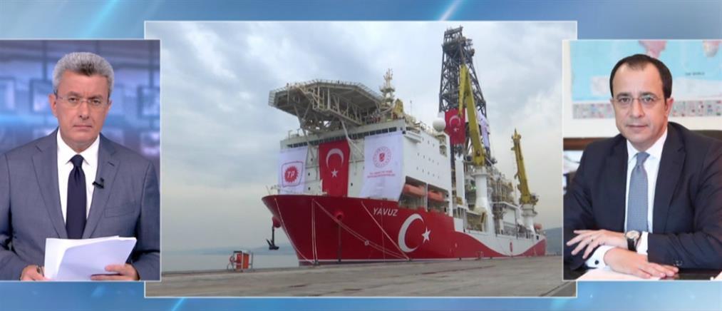 Ο Ν. Χριστοδουλίδης στον ΑΝΤ1 για την απάντηση της Ε.Ε. στην Τουρκία (βίντεο)