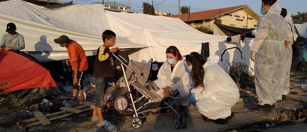 Λέσβος: Αστυνομική επιχείρηση για τη μεταφορά προσφύγων στον Καρά Τεπέ (εικόνες)