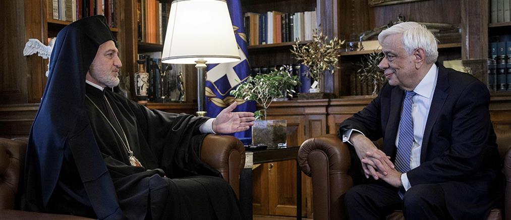 Συνάντηση Παυλόπουλου με τον Αρχιεπίσκοπο Αμερικής