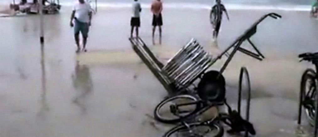 Πλημμύρισε από κύμα το κτήριο μετάδοσης των Ολυμπιακών Αγώνων (βίντεο)