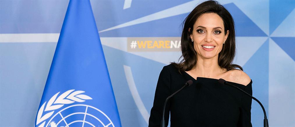 Στο αρχηγείο του ΝΑΤΟ η Τζολί - το μήνυμά της για την σεξουαλική βία  (φωτο)