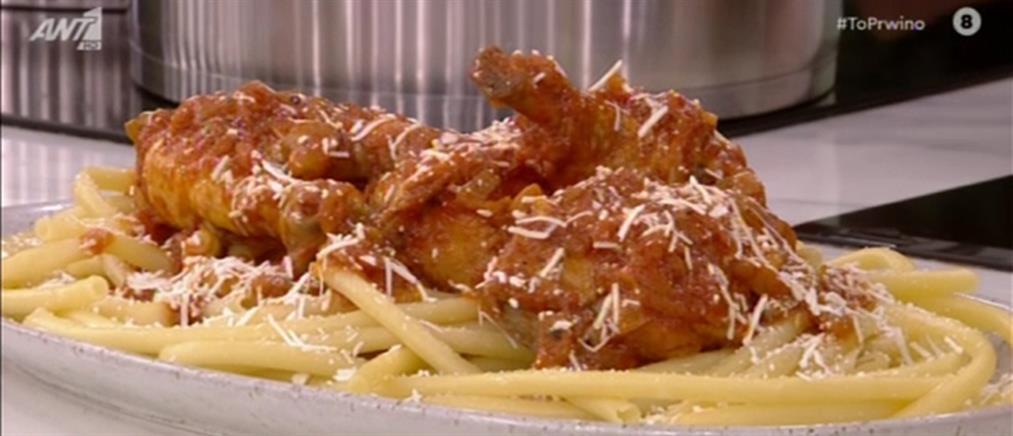 Παστιτσάδα κοτόπουλο από τον Πέτρο Συρίγο
