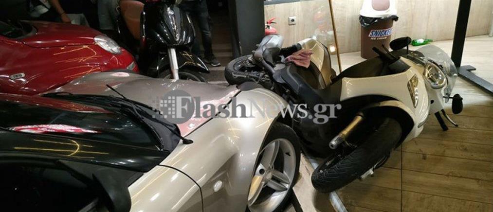 """Χανιά: Καβγάς κατέληξε σε """"ντου"""" με αυτοκίνητο (εικόνες)"""