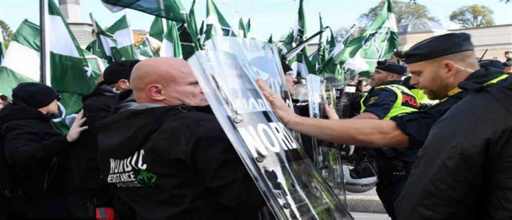 Αντιφασίστες εναντίον νεοναζί στην Σουηδία