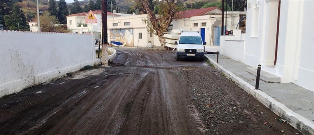 Πλημμύρες και καταστροφές στην Άνδρο και τη Σύρο (εικόνες)