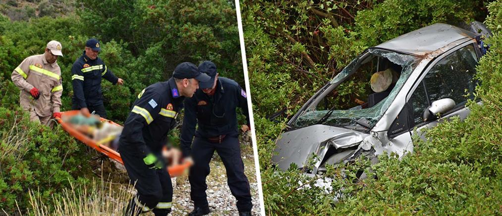 Αυτοκίνητο έπεσε σε γκρεμό - Νεκρός ο οδηγός (εικόνες)