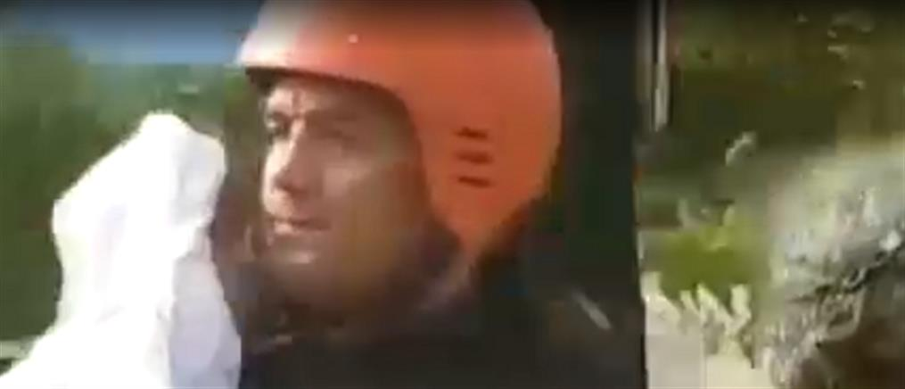 Εύβοια: τι λέει στον ΑΝΤ1 ο πυροσβέστης που διέσωσε μωρό (βίντεο)