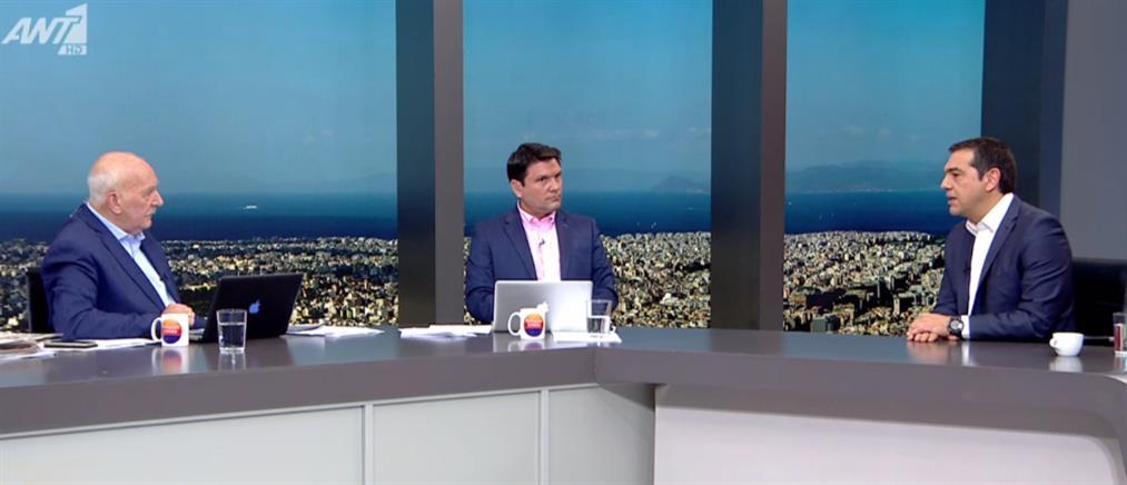 Τσίπρας στον ΑΝΤ1: ψήφος εμπιστοσύνης ή ακύρωσης των παροχών την Κυριακή