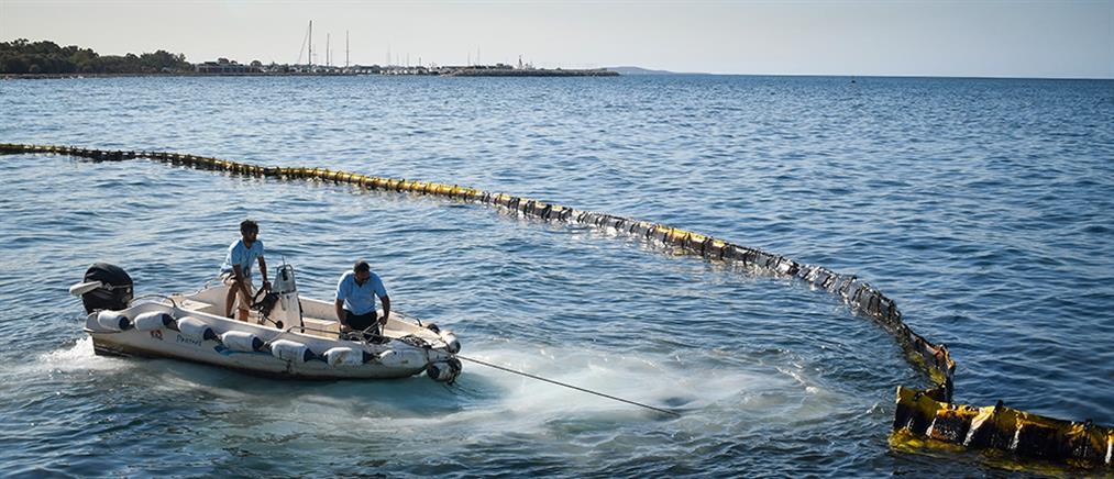 Ναυάγιο στο Μυρτώο Πέλαγος: Θαλάσσια ρύπανση από τα καύσιμα