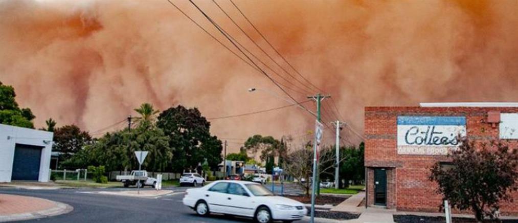 """Τεράστια αμμοθύελλα """"κατάπιε"""" πόλη στην Αυστραλία (βίντεο)"""