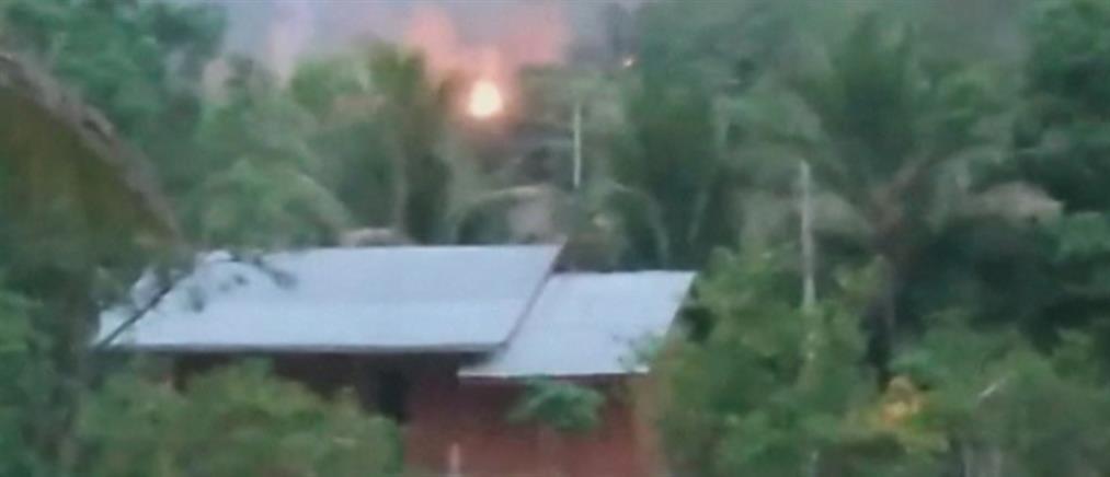Μιανμάρ: Αντάρτες βομβάρδισαν στρατιωτική βάση (εικόνες)