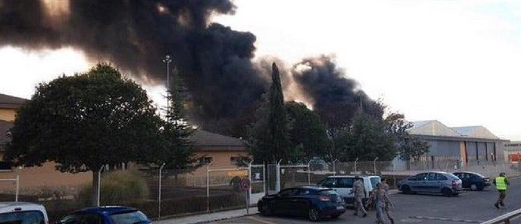 Στις φλόγες F-16 στα Χανιά