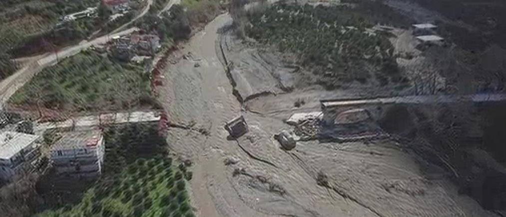 Συγκλονιστικό βίντεο της γέφυρας του Κερίτη από drone