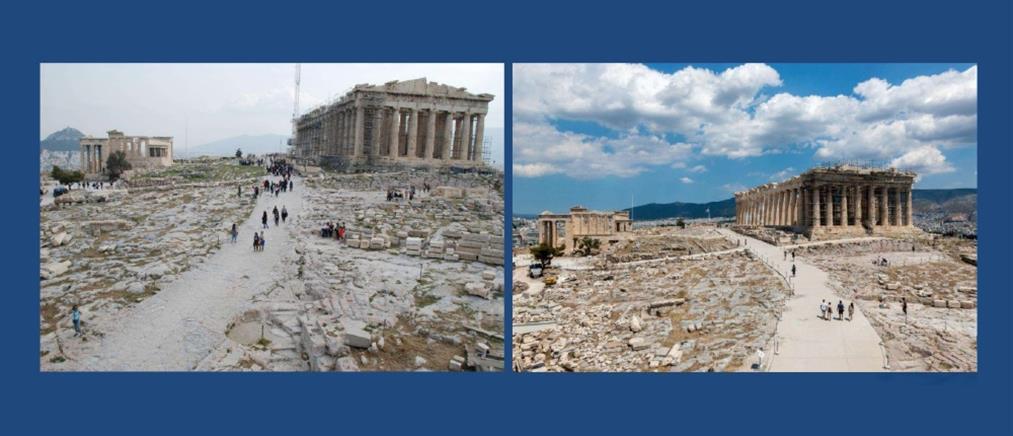 Μενδώνη: Οι διαδρομές στην Ακρόπολη πριν και μετά την αποκατάστασή τους (βίντεο)