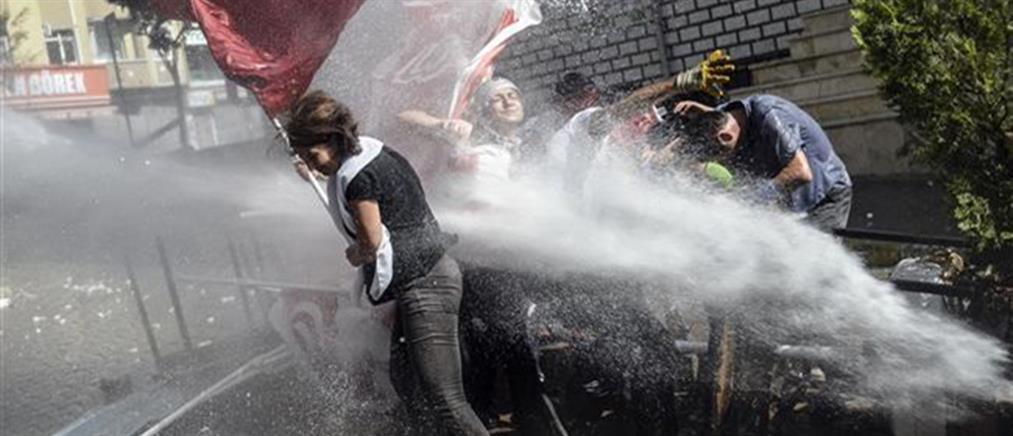 Δακρυγόνα και πλαστικές σφαίρες κατά διαδηλωτών στην Κωνσταντινούπολη