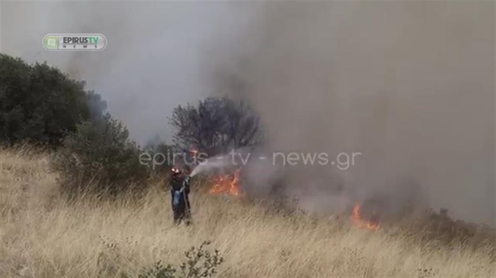 Ιωάννινα: Φωτιά στο Σταυράκι