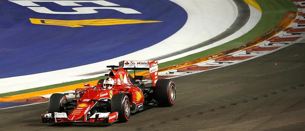 F1: Νικητής στη Σιγκαπούρη ο Φέτελ, 1-3 για την Ferrari