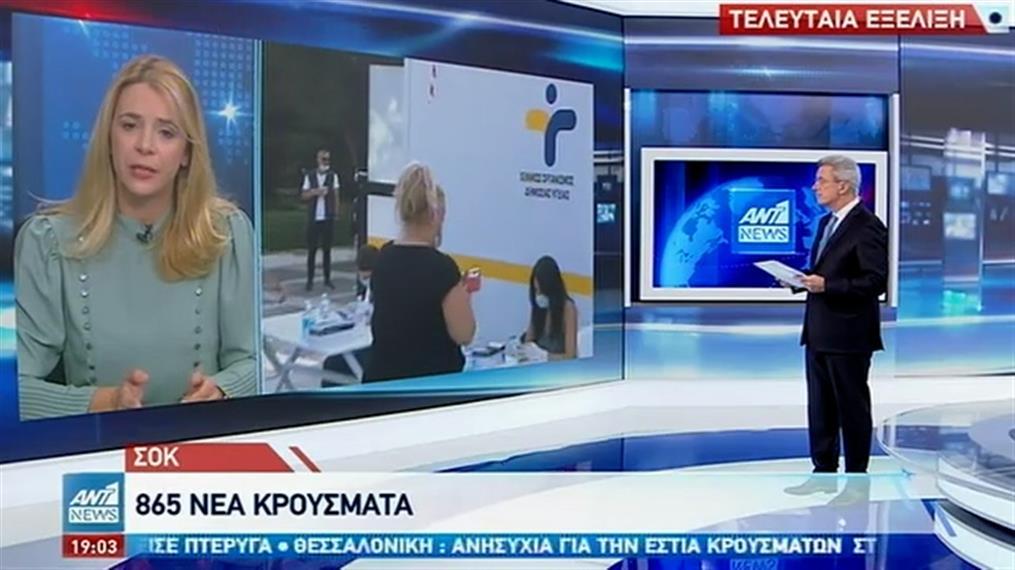 Κορονοϊός: «μαύρο ρεκόρ» με 865 νέα κρούσματα στην Ελλάδα