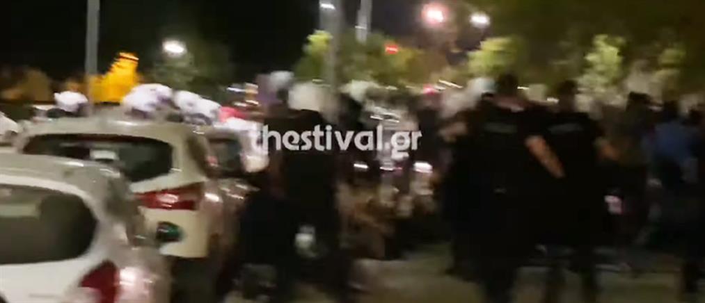 Επεισόδια σε πορεία στην Θεσσαλονίκη (βίντεο)