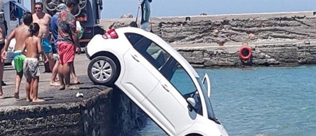Αυτοκίνητο έπεσε στην θάλασσα στο Λασίθι (εικόνες)