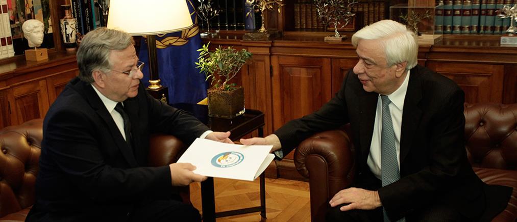 """Συνάντηση του Προέδρου Παυλόπουλου με τον πρόεδρο του """"Χαμόγελου"""""""