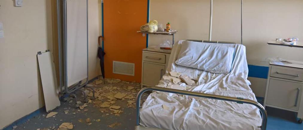 Εικόνες ντροπής: Έπεσε ταβάνι στο Κρατικό Νίκαιας - Τραυματίστηκε μητέρα ασθενή