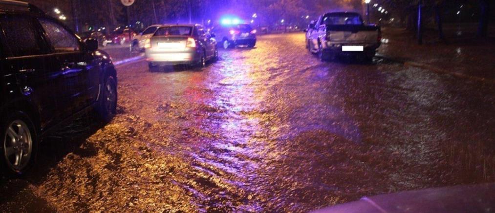 Πλημμύρες στη Σκιάθο από την κακοκαίρια